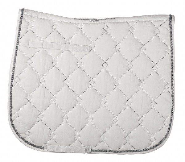Quilted saddle cloth with contrast col. rope