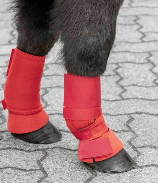 Shetty fetlock boots, tape closing