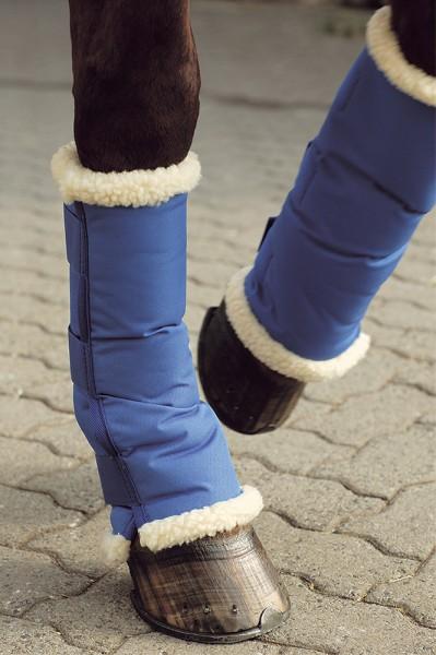 Wärme und Transportgamasche, kurz, blau, 4tlg.