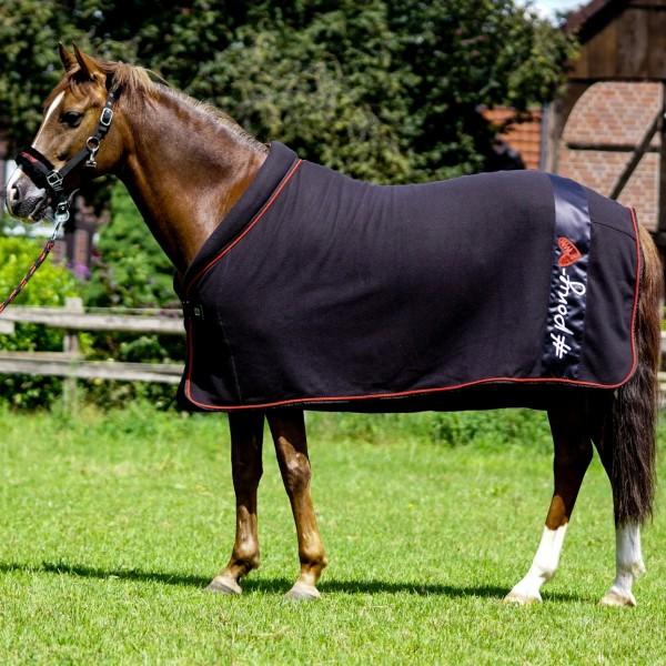 Fleece blanket w. contrast col. binding