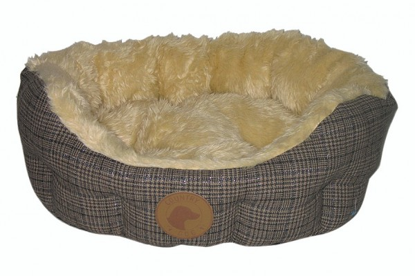 """""""Country Dog"""" Bed in Tweed look"""