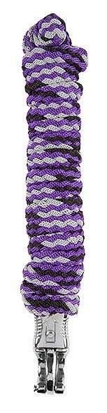 Lead rope, three-coloured, with panic hook, 2 m
