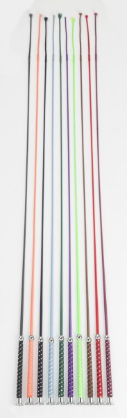 Riding whip, Silvery, assort. colours
