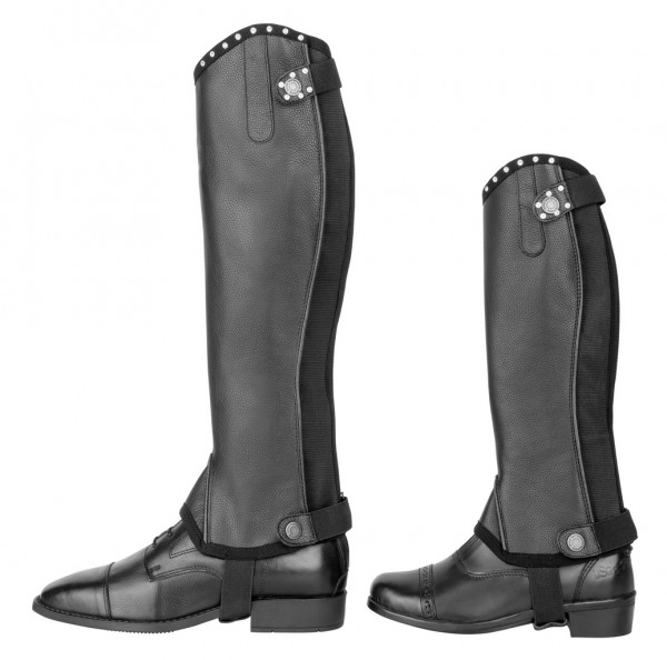 """Leather-Mini-Chaps """"Modena"""" for Adults"""