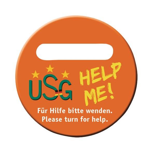 usg-help-me safety plate