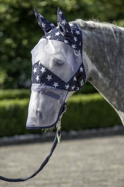 """Fly mask with ear and nose protector """"Stars"""""""